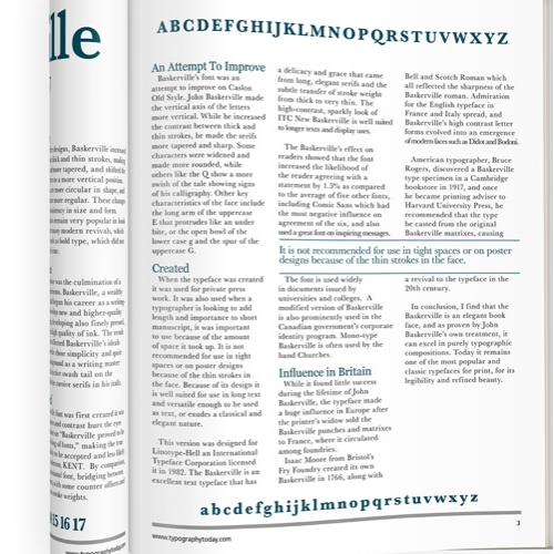 Article on Baskerville Font